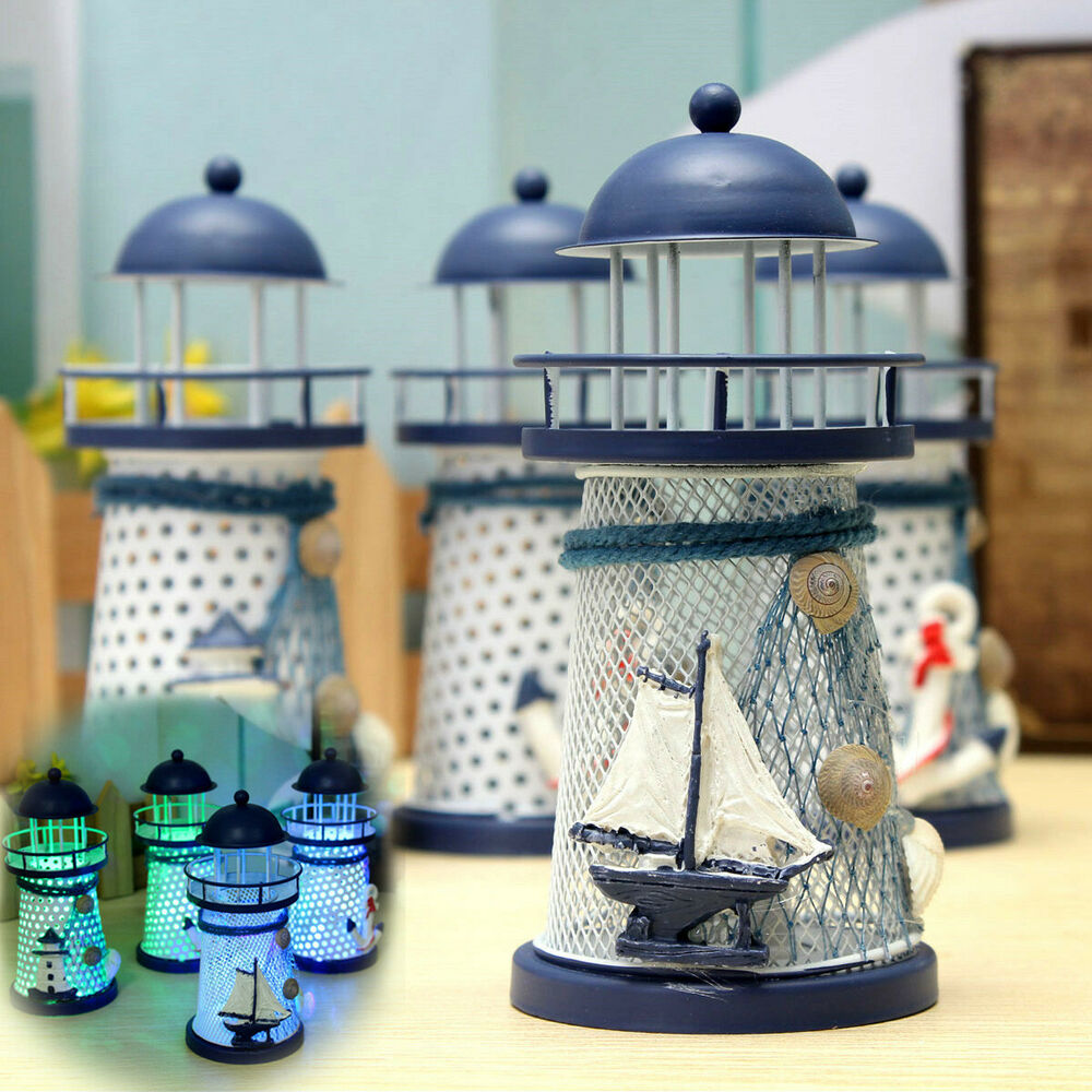 Best Mediterranean Lighthouse Iron Candle Led Light Sailboat This Month