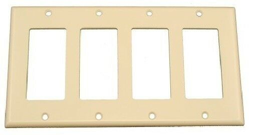 Best Decorator 4 Gang Wall Plate Cover Ivory Standard Size This Month