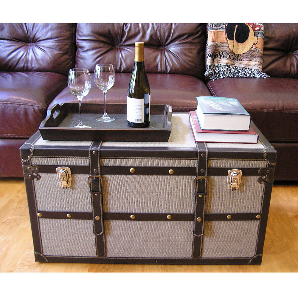 Best Decorative Vienna Large Wood Steamer Trunk Wooden Treasure This Month