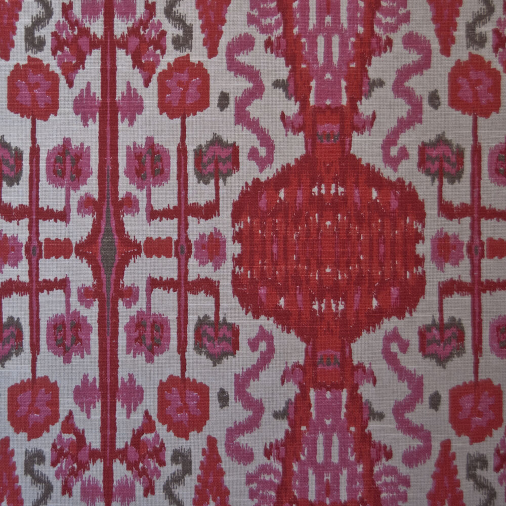 Best Or115 Ikat Bombay Pink Printed By The Yard Upholstery Home This Month