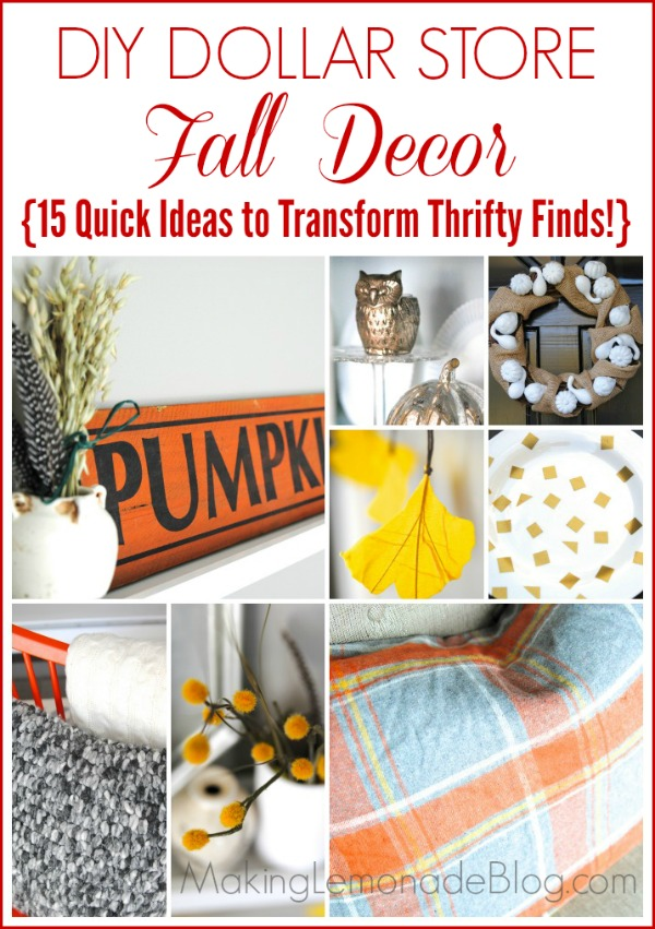 Best 15 Thrifty Fall Decor Ideas More Dollar Store Decor This Month