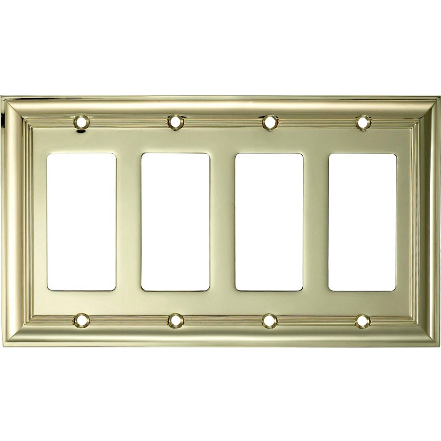 Best Shop Allen Roth 4 Gang Polished Brass Decorator Wall This Month