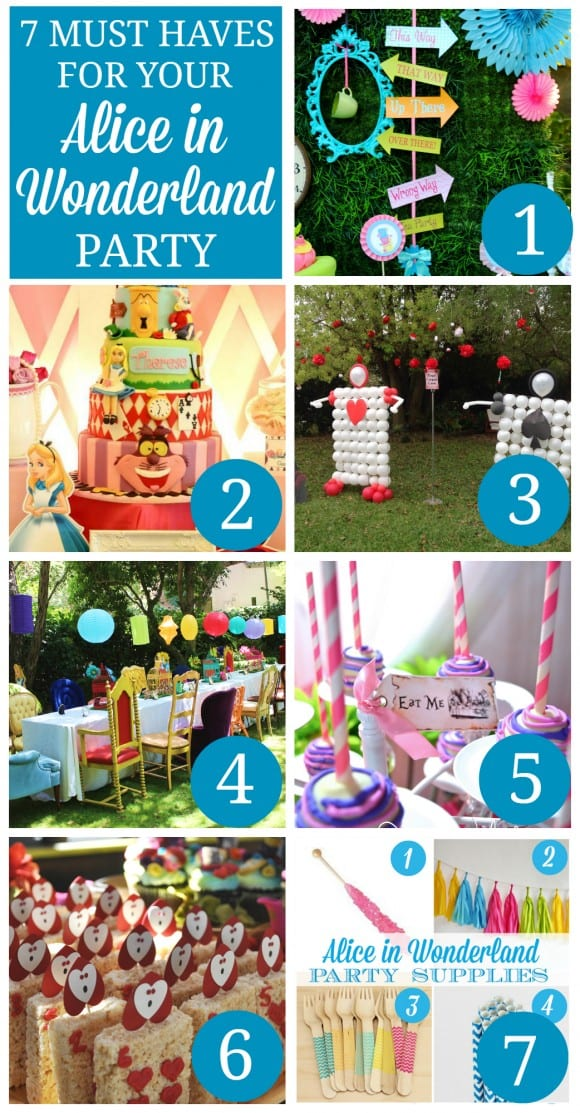 Best 7 Must Haves For An Alice In Wonderland Party Catch My Party This Month
