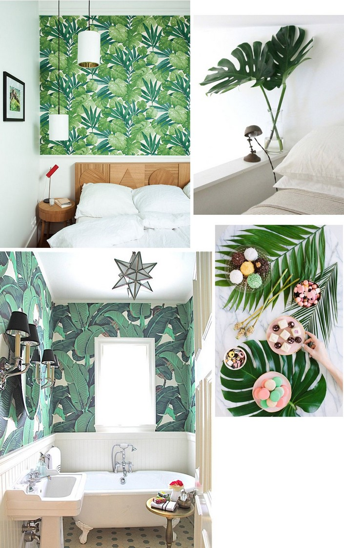 Best Home Decor Ideas Use Tropical Leaves This Month