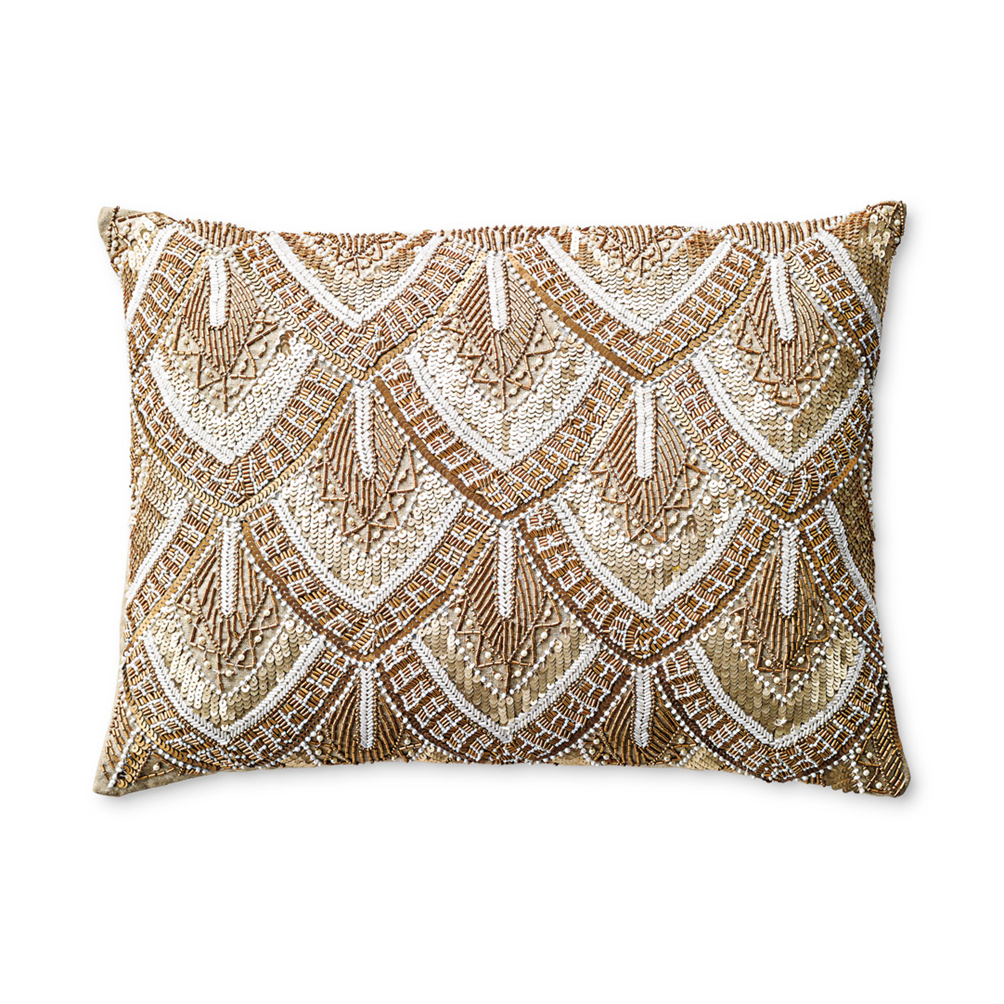 Best Avalon Gold Beaded Pillow Gump S This Month