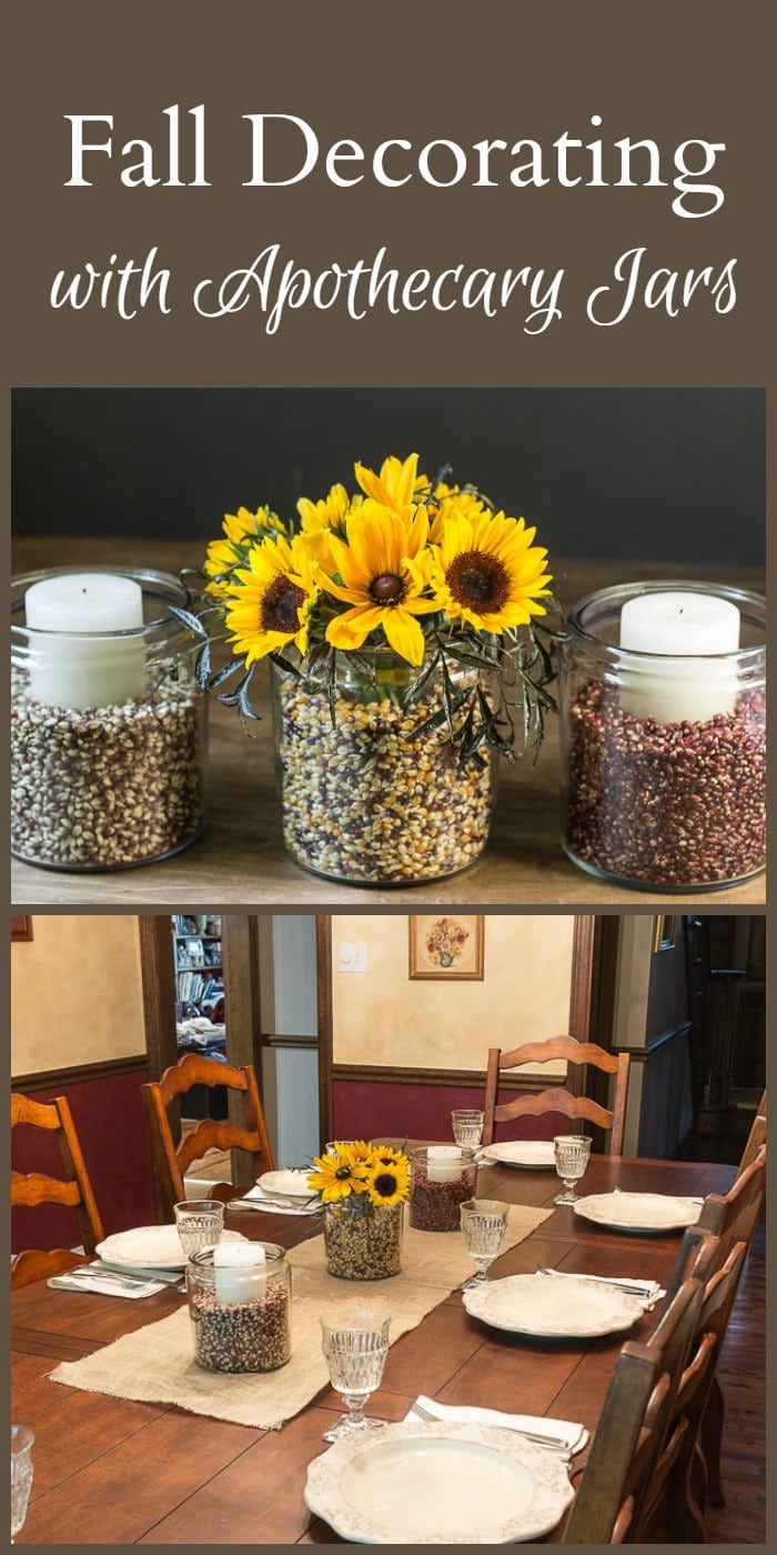Best Easy Fall Decorating With Apothecary Jars This Month