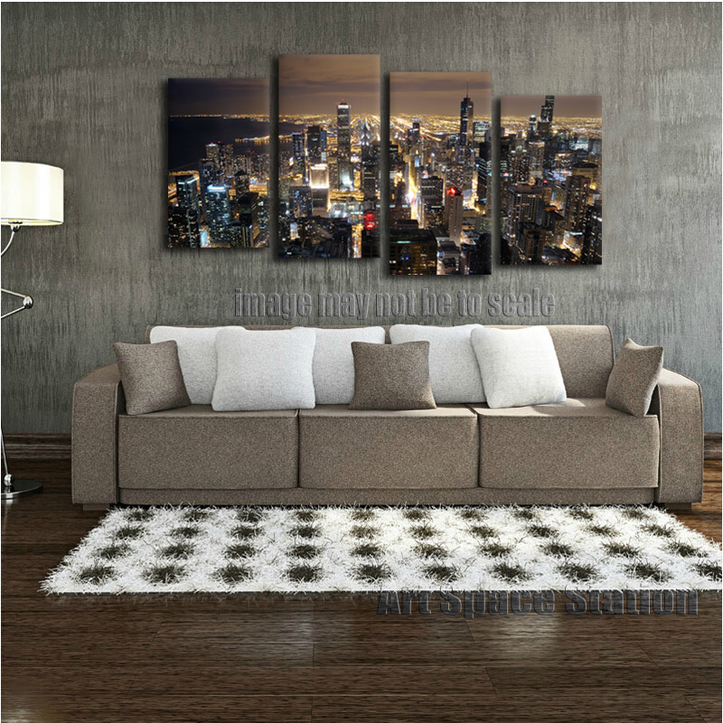 Best Chicago Skyline Giant Wall Art Home Decor Hd Canvas Print This Month