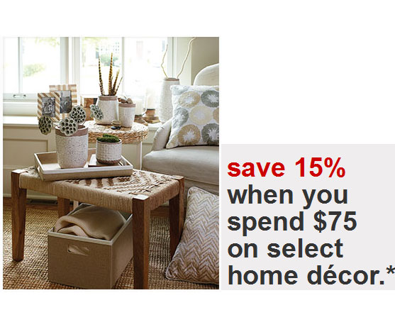 Best Target Coupons 15 Percent Off Home Decor This Month
