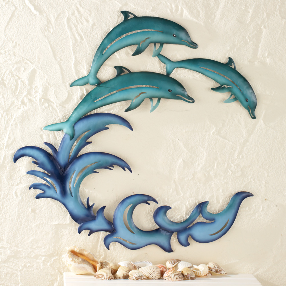 Best Riding The Wave Dolphin Wall Art Ebay This Month