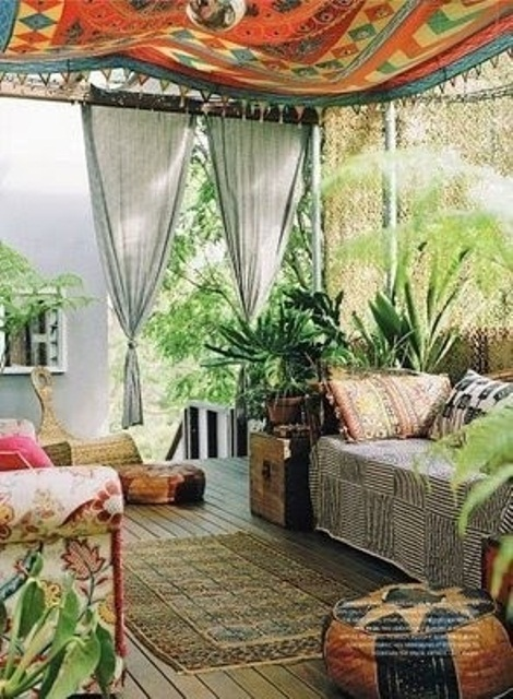Best 37 Beautiful Bohemian Patio Designs Digsdigs This Month