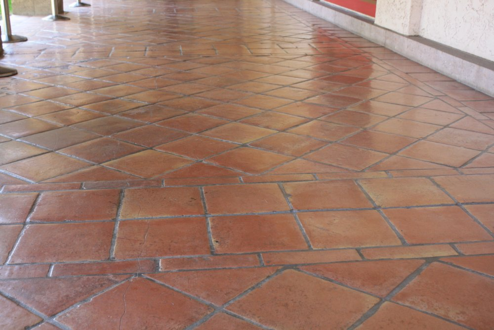 Best Saltillo Floor Tile In A Diagonal Pattern Mexican Home This Month