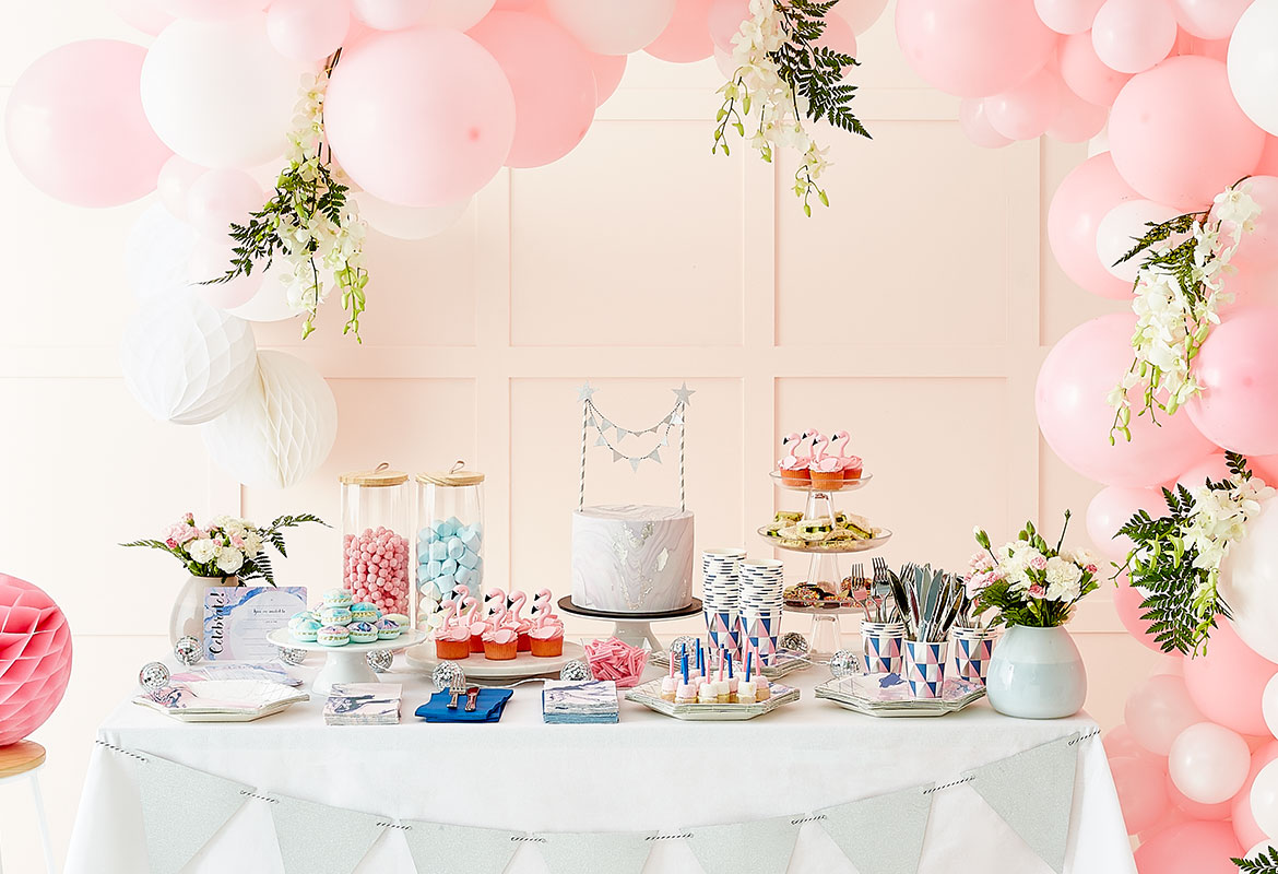Best Stylish Party Decor Midnight Pastel Marble Kmart This Month
