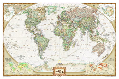 Best World Political Wall Map National Geographic – Decorative This Month