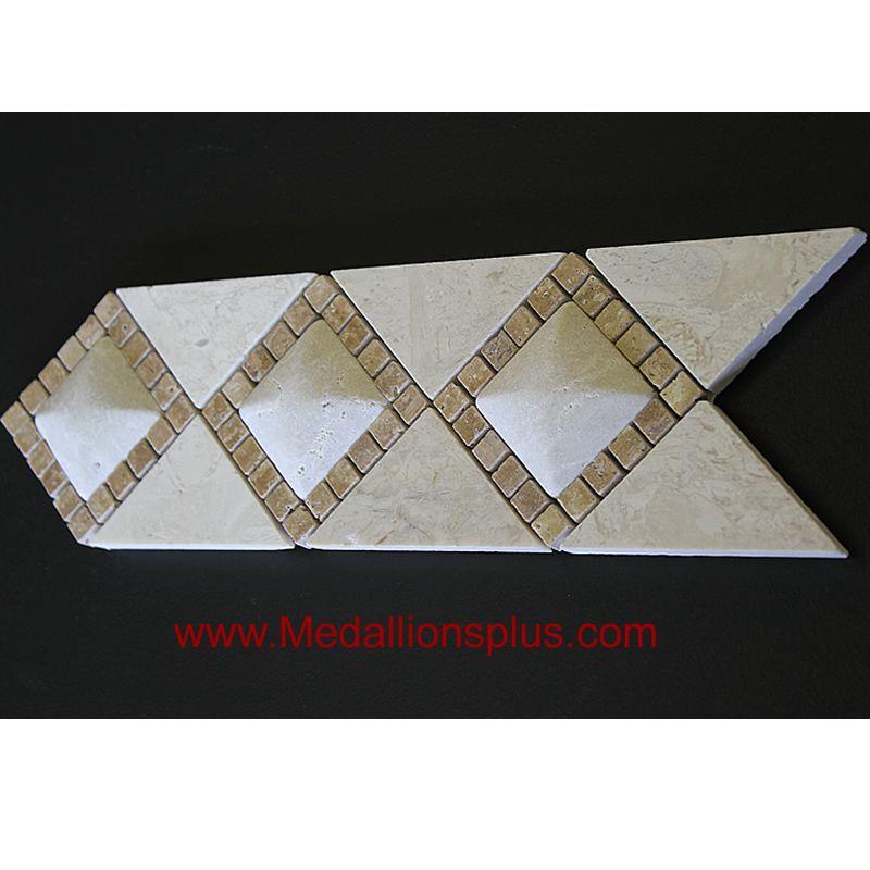 Best 3D Light Marble Travertine Tile Border 4 X 12 This Month