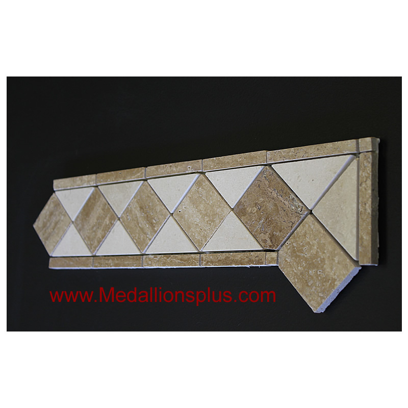 Best Travertine And Marble Honed Tile Border 4 X 12 This Month