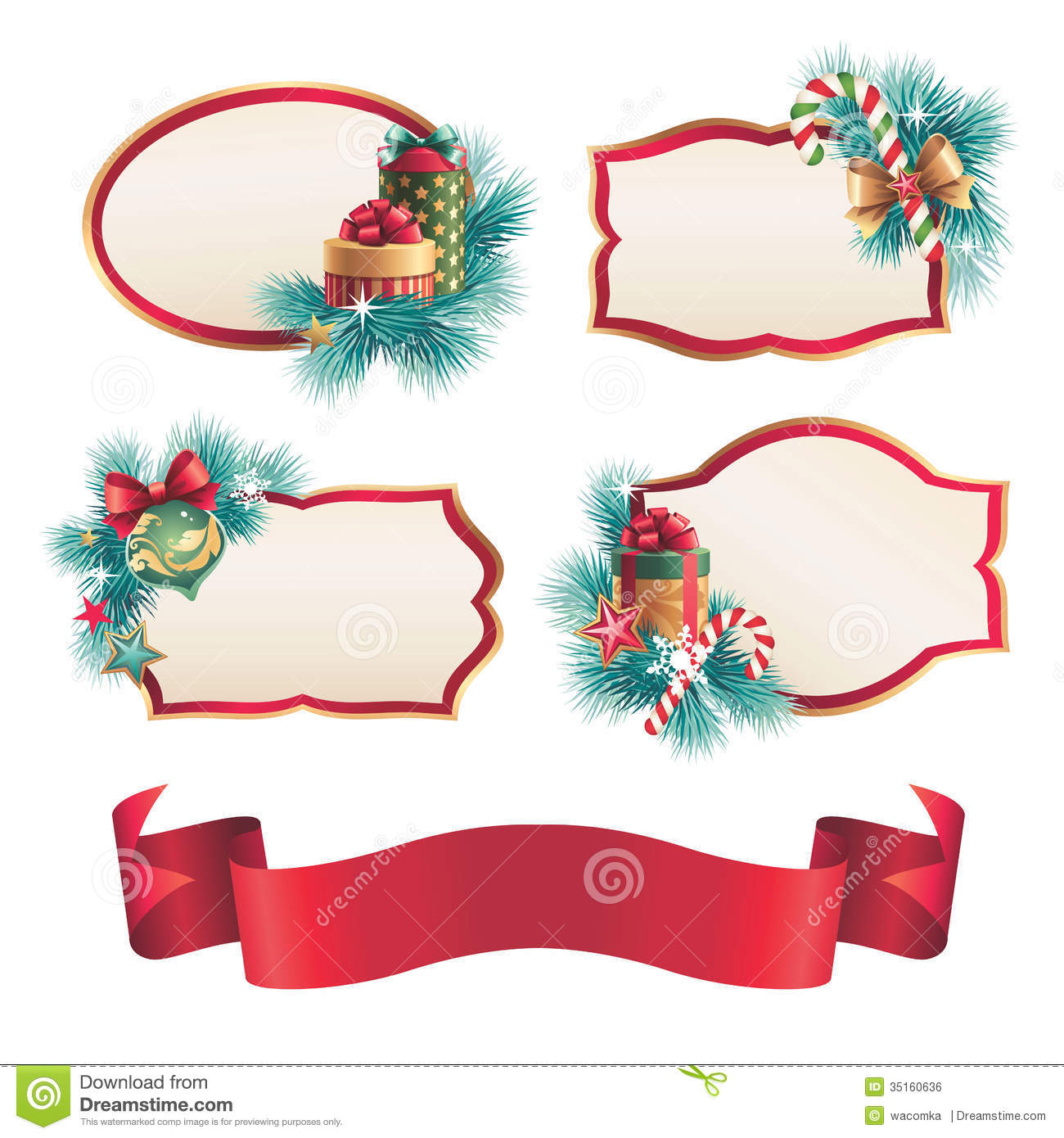 Best Christmas Blank Labels And Stickers Design Set Stock This Month