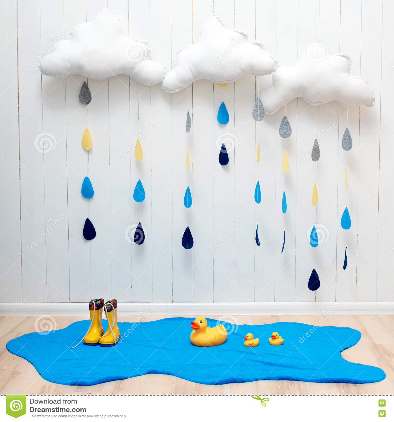 Best Weather Symbols Handmade Room Decoration Clouds With Rain This Month