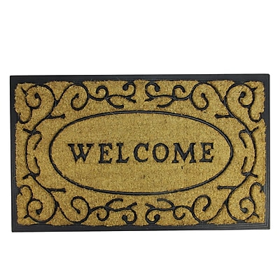 Best Northlight Decorative Welcome Rubber And Coir Outdoor This Month