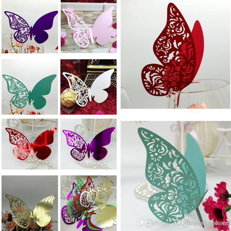 Best Laser Cut Butterfly Wedding Decorations Table Name Card This Month