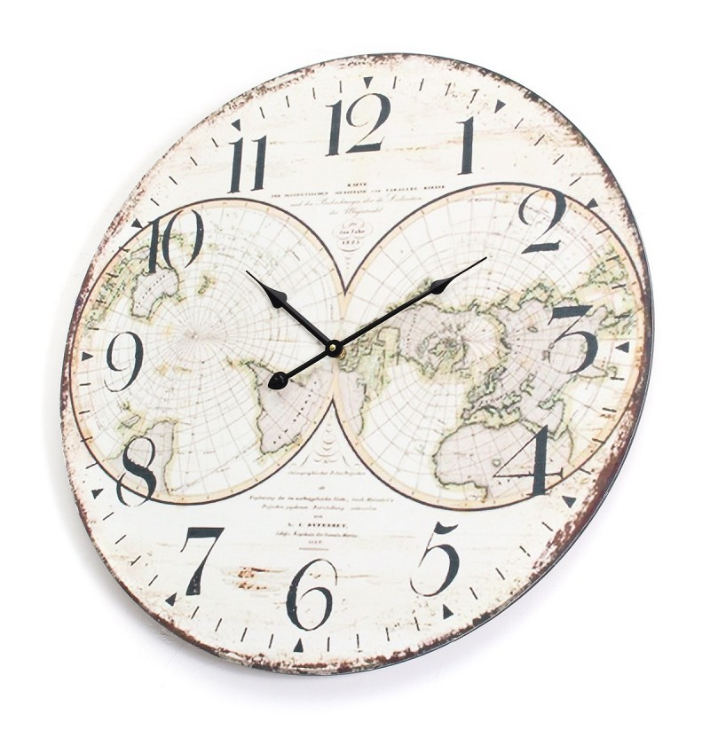 Best 58Cm Wall Clock Extra Large Compressed Wooden Retro Wall This Month