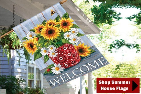 Best Decorative House Flags Outdoor Seasonal Holiday Yard Flags This Month