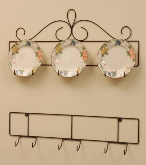 Best Wrought Iron Plate Hanger Horizontal Three 8 1 4 To 10 This Month