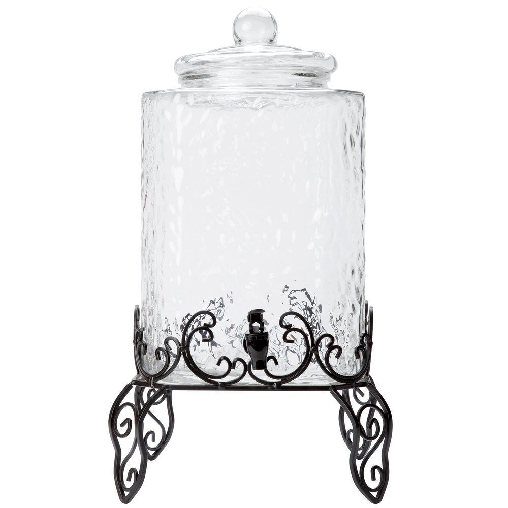 Best Core 5 Gallon Hammered Glass Beverage Dispenser With Metal This Month