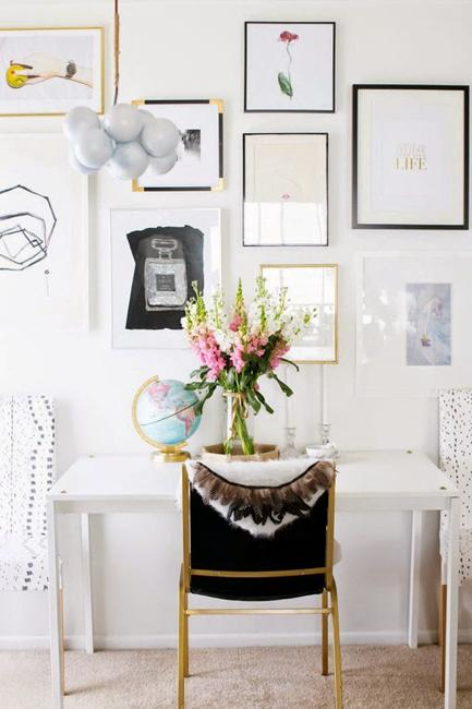 Best Black And White Decorating Ideas For Home Office Designs This Month