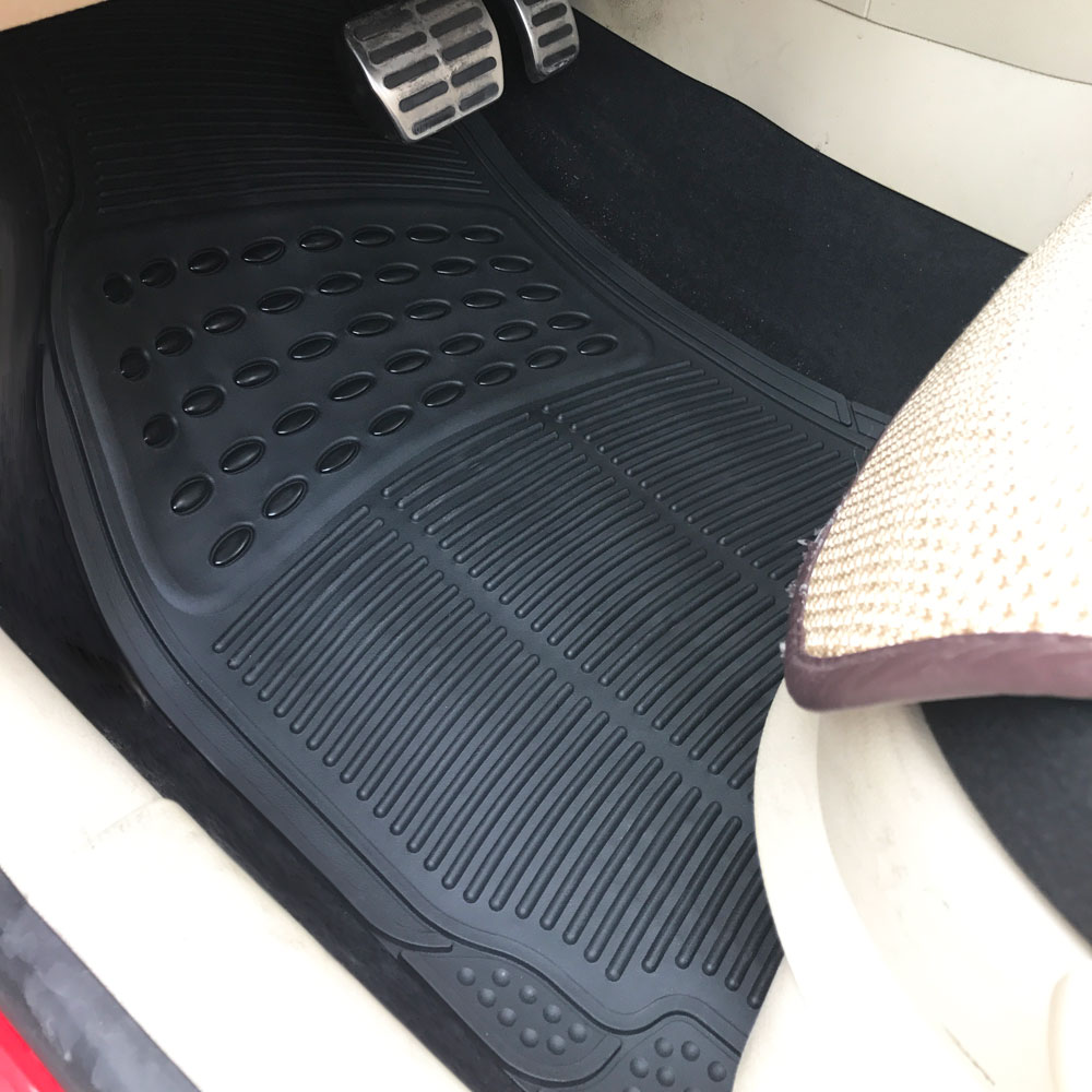 Best Black Car Floor Mats For All Weather Rubber 4Pc Set Semi This Month