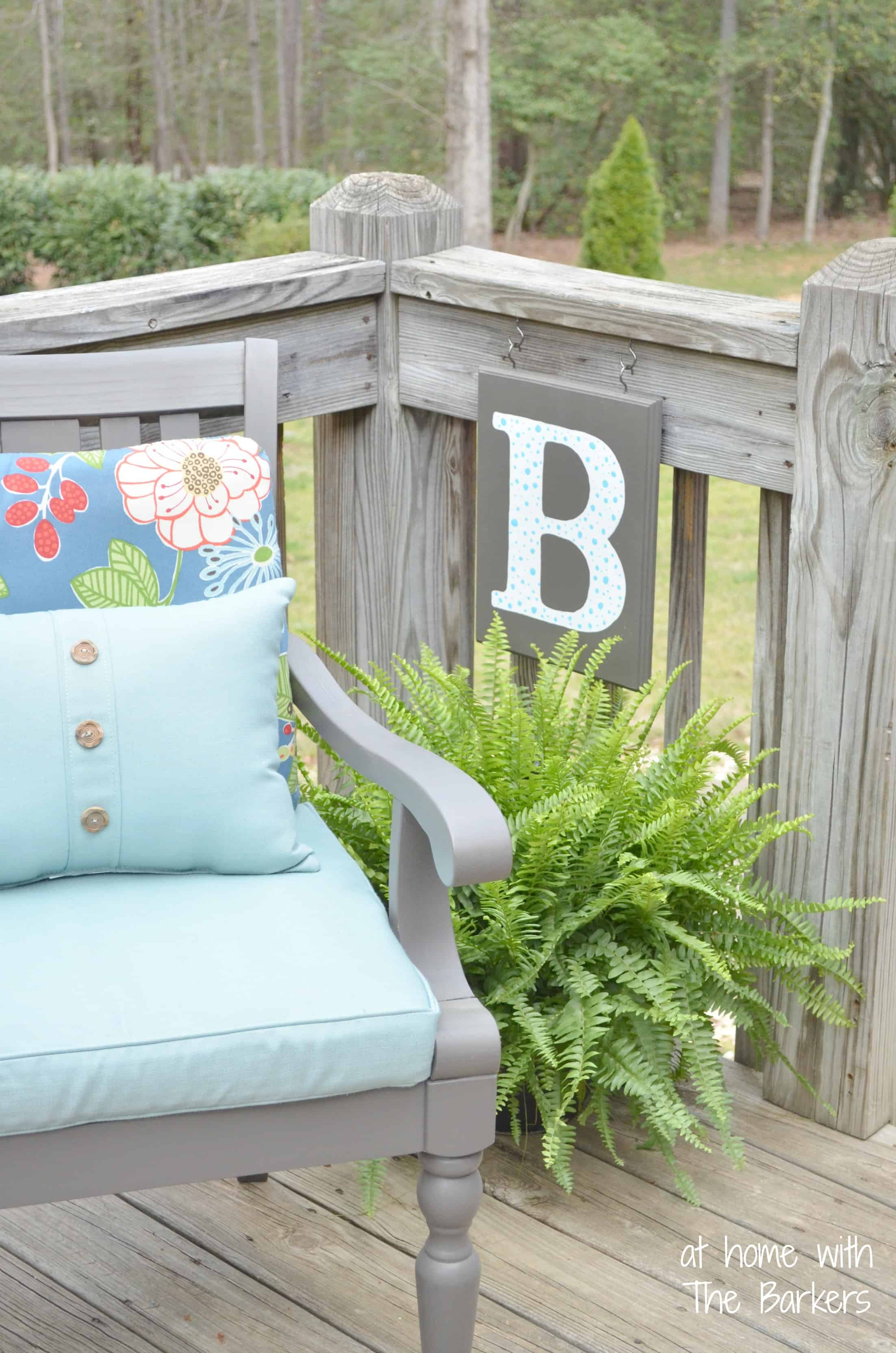 Best Diy Monogram Flag At Home With The Barkers This Month