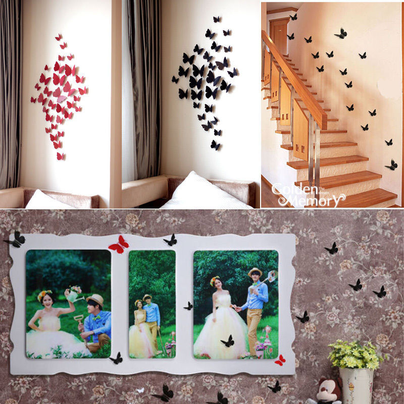 Best 12 Pcs 3D Wall Art Decals Sticker On The For Kids Rooms This Month