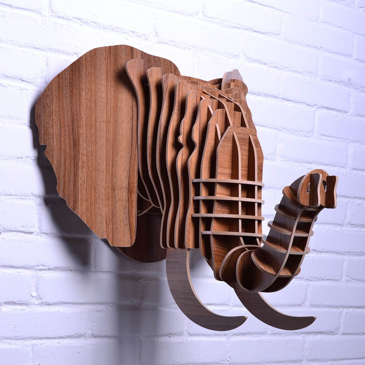 Best Aliexpress Com Buy Nodic Wooden Elephant Head For Wall This Month