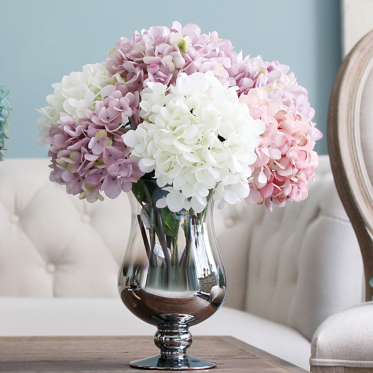 Best Artificial Silk Flower Hydrangea Bouquet Party Artificial This Month