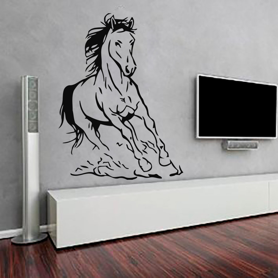 Best New Design Horse Wall Sticker Interior Self Adhesive Vinyl This Month