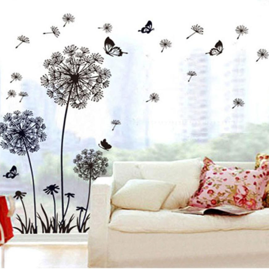 Best Creative Dandelion Butterfly Stickers Removable Mural Pvc This Month