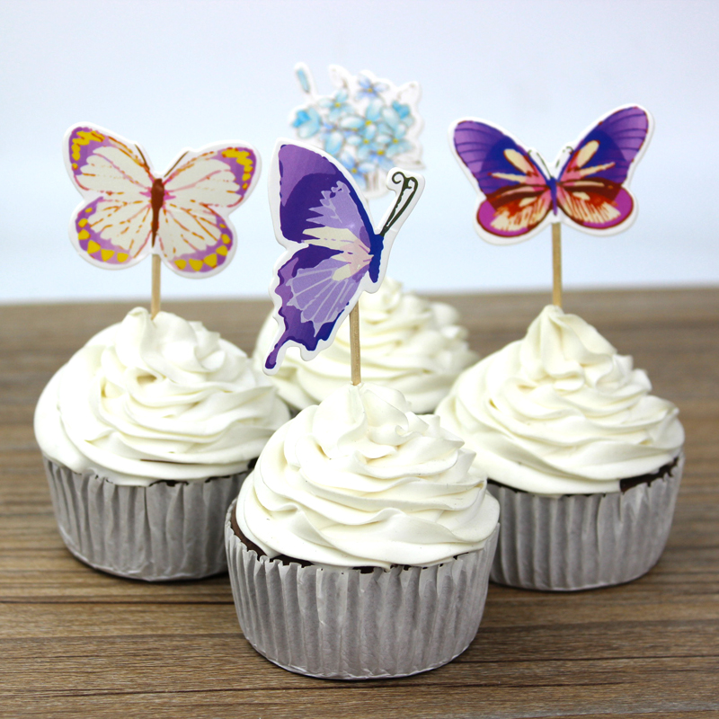 Best Wholesale 720Pc Lot Butterfly Flower Cupcake Toppers Picks This Month