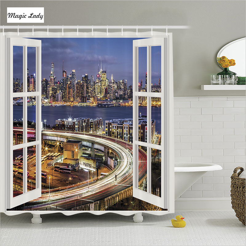 Best Shower Curtain Cities Bathroom Accessories Panoramic This Month