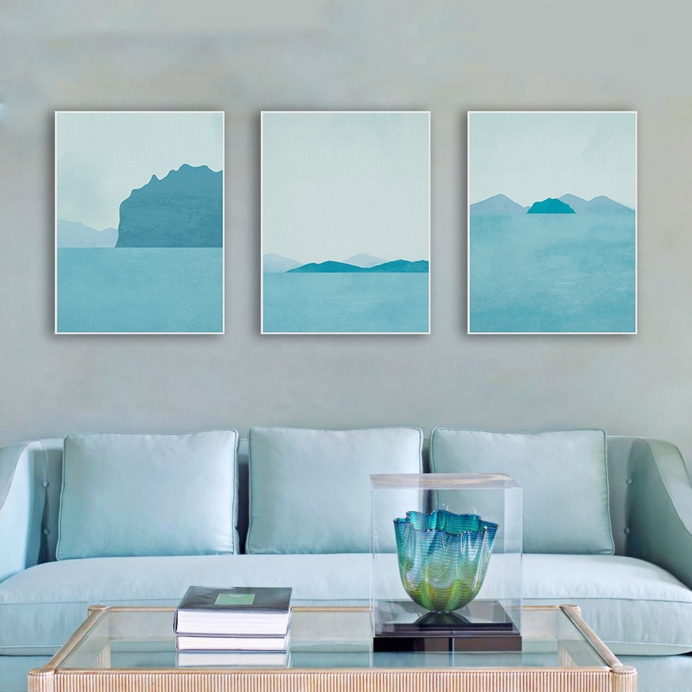 Best Triptych Modern Abstract Landscape Canvas A4 Art Print This Month