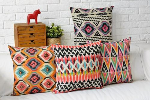 Best Aztec Geometric Cushion Cover Abstract Linen Cotton Throw This Month