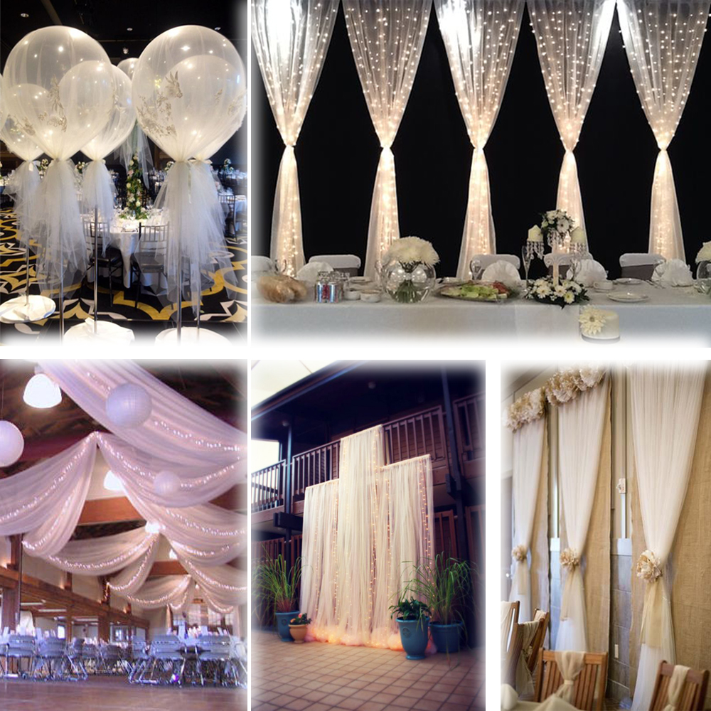 Best White 54 X120 Ft 40 Yards Tulle Bolt Wedding Decoration This Month