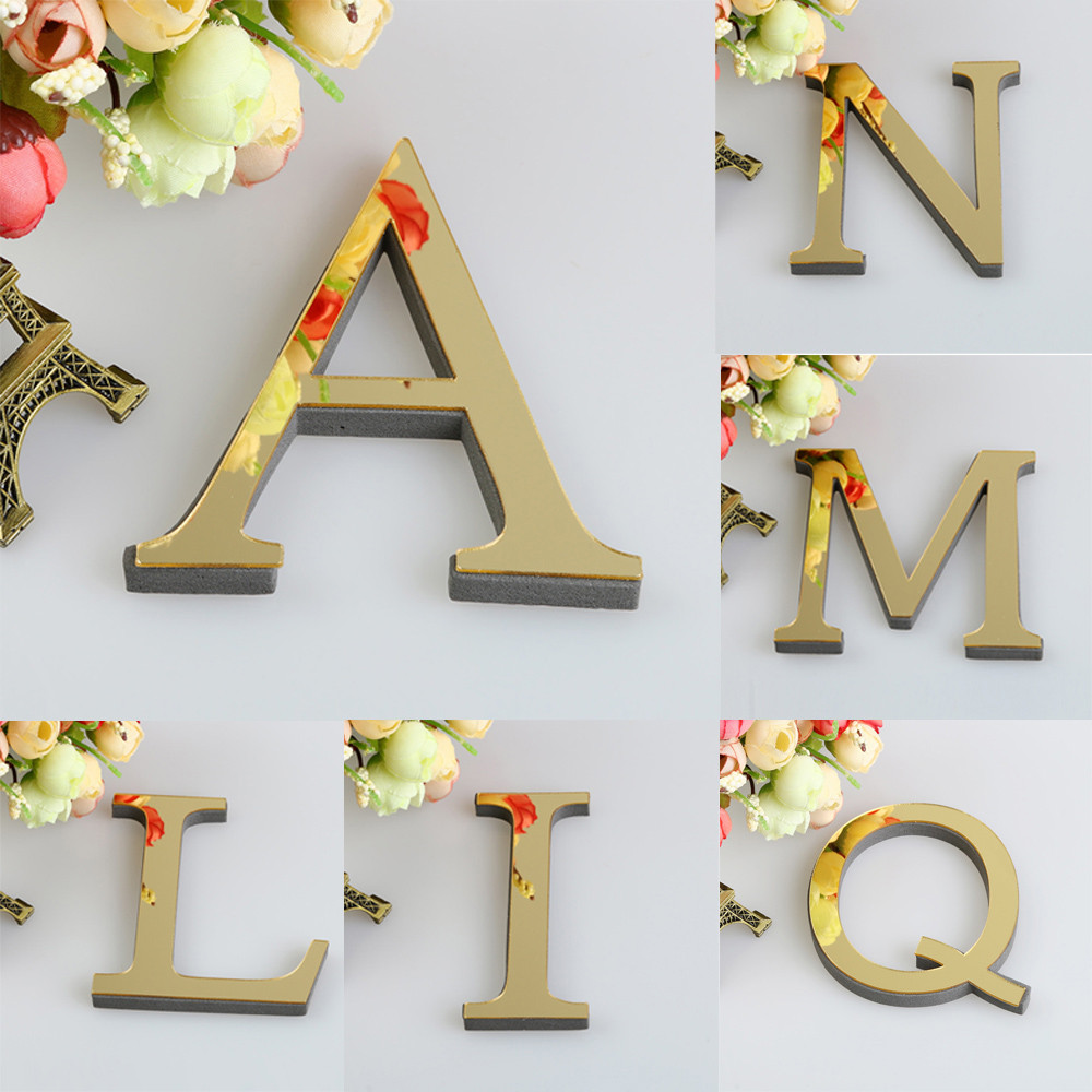 Best Aliexpress Com Buy 26 Letters Diy 3D Mirror Acrylic Wall This Month