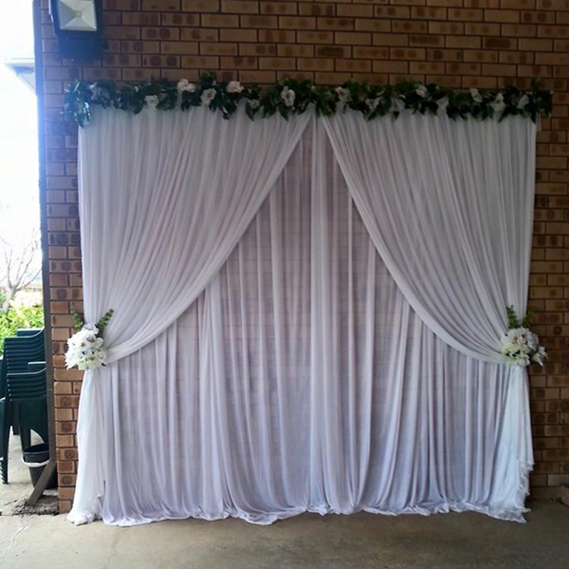 Best Aliexpress Com Buy White Wedding Drapes 3 3 Meter For This Month