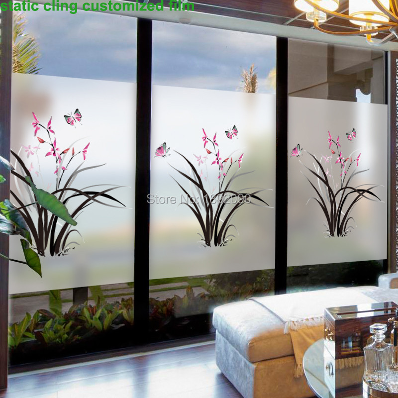 Best Custom Size Stained Static Cling Window Film Privacy This Month