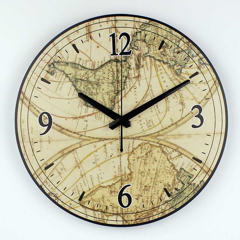 Best World Map Large Decorative Wall Clock Modern Design This Month