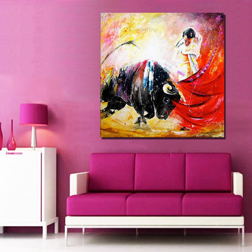 Best Hand Painted Oil Painting On Canvas Spain Pictures Modern This Month