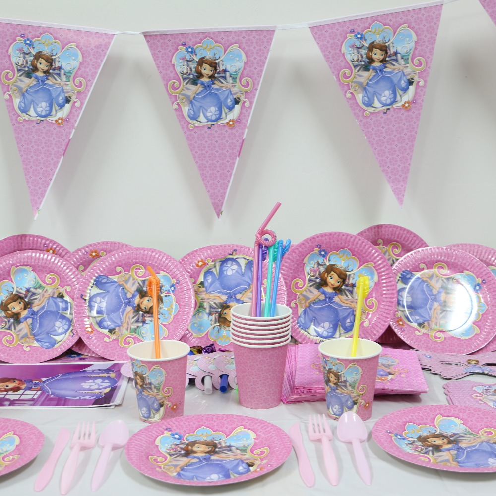 Best 1Pack 78Pcs Wholesale Sophia Princess Baby 1St Birthday This Month