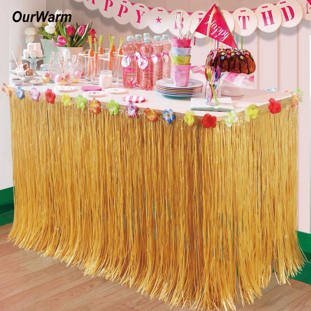 Best Ourwarm 5Pcs Hawaiian Party Decorations Artificial Grass This Month