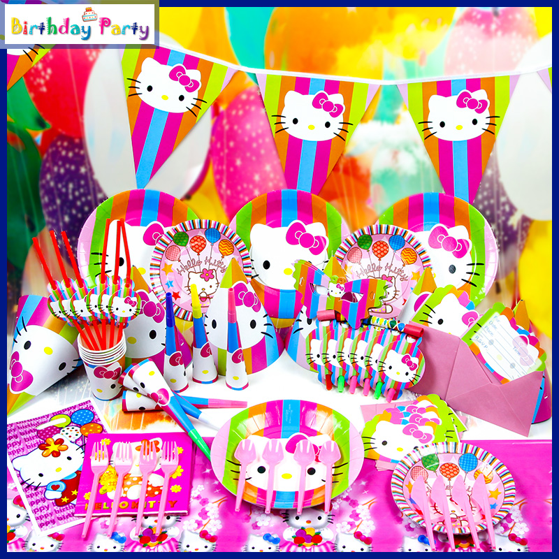 Best 90Pcs Lot Wholesale Hello Kitty Princess Theme Party This Month