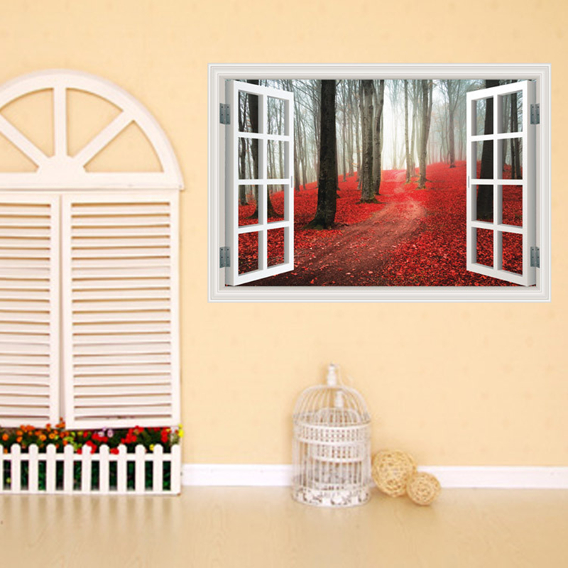 Best Aliexpress Com Buy Creative Home Decor 3D Fake Window This Month