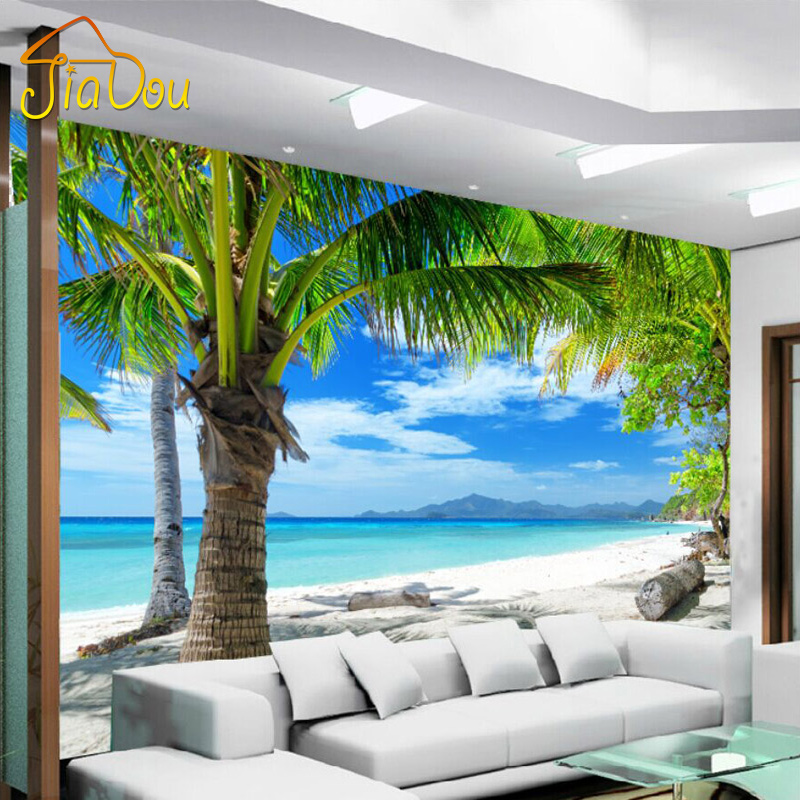 Best Custom 3D Mural Mediterranean Modern Minimalist Sea Beach This Month